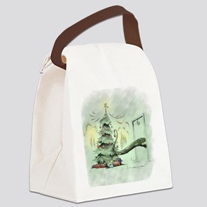 In the Madness of Christmas Canvas Lunch Bag
