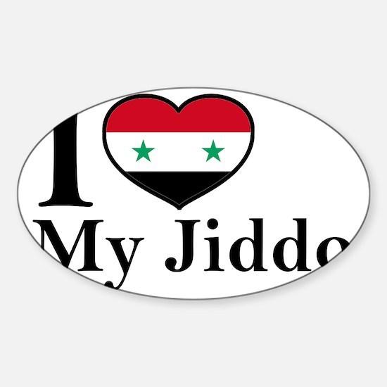 jiddo Sticker (Oval)