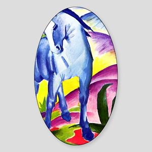 Franz Marc - Blue Horse I Sticker (Oval)
