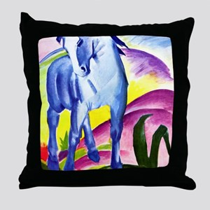 Franz Marc - Blue Horse I Throw Pillow