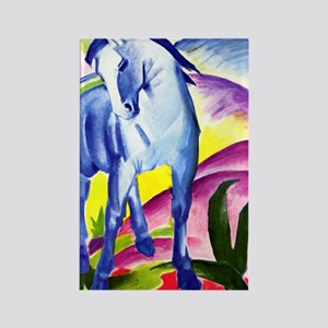Franz Marc - Blue Horse I Rectangle Magnet