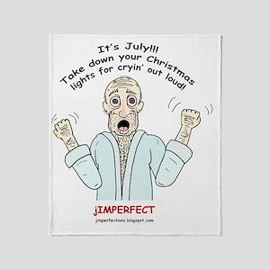 OldManJimmaker003tshirt Throw Blanket