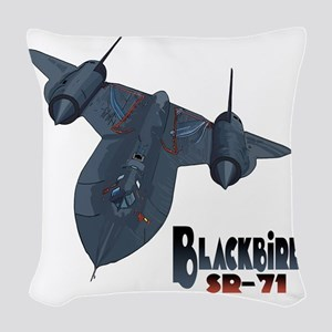 Blackbird-10 Woven Throw Pillow
