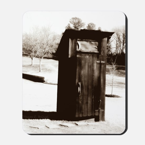 outhouse-watermarked Mousepad