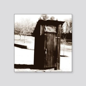 "outhouse-watermarked Square Sticker 3"" x 3"""