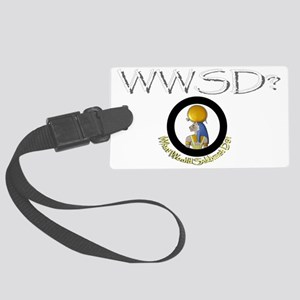 What Would Sekhmet Do? Large Luggage Tag