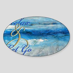 relax ocean Sticker (Oval)