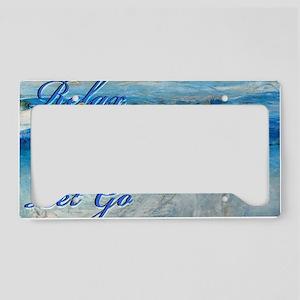 relax ocean License Plate Holder