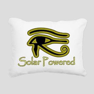 Solar Powered Rectangular Canvas Pillow