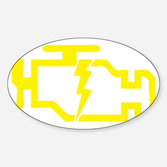 CHECKENGINE Sticker (Oval)
