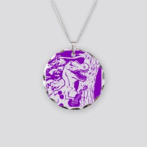 dino0008 Necklace Circle Charm