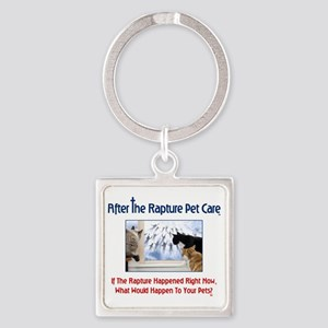 ARPC Cats Window Question Square Keychain