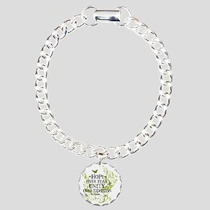 obama_vine_hope_division Charm Bracelet, One Charm