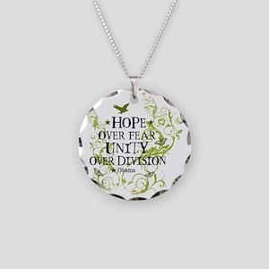 obama_vine_hope_division_whi Necklace Circle Charm