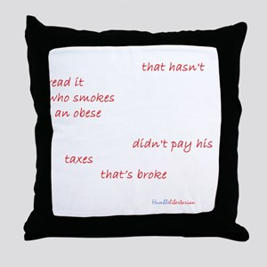 What Could Go Wrong Dark Throw Pillow