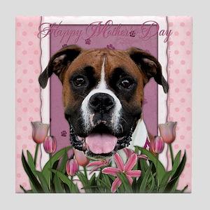 PinkTulips_Boxer_Mousepad Tile Coaster