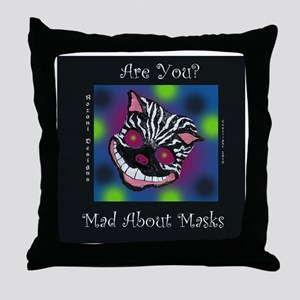 Mad About Masks Throw Pillow