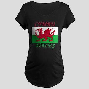Wales-Cymru Maternity Dark T-Shirt