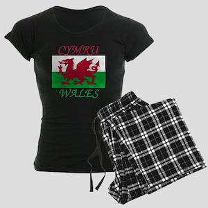 Wales-Cymru Women's Dark Pajamas
