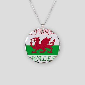 Wales-Cymru Necklace Circle Charm
