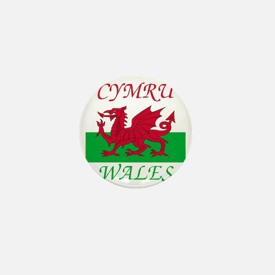Wales-Cymru Mini Button