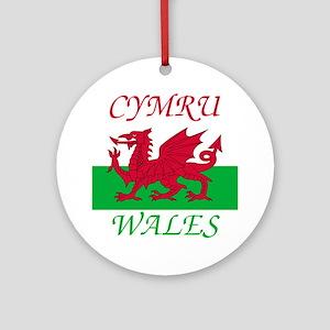 Wales-Cymru Round Ornament