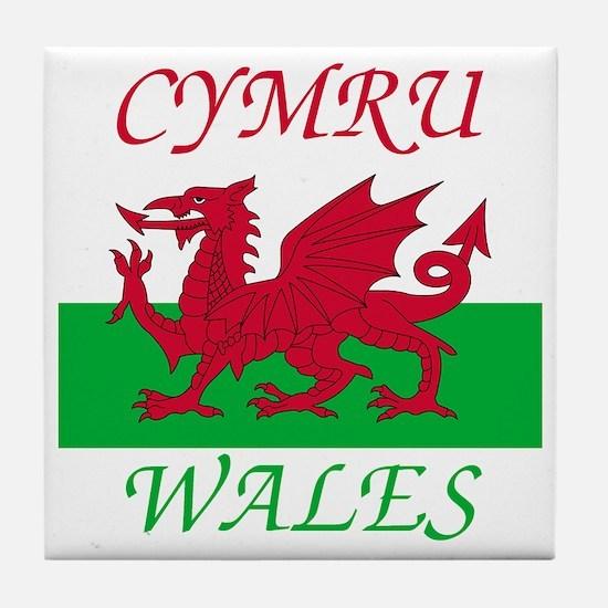 Wales-Cymru Tile Coaster