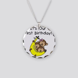MONKEYTRIP1STBDAY Necklace Circle Charm