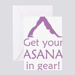 get-your-asana-in-gear_tr Greeting Card