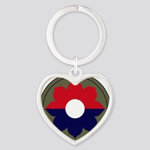 9th Infantry Division Heart Keychain