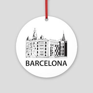 2-Barcelona1 Round Ornament