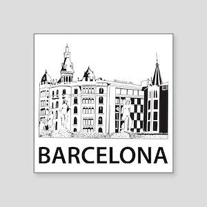 """2-Barcelona1 Square Sticker 3"""" x 3"""""""