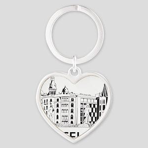 2-Barcelona1 Heart Keychain