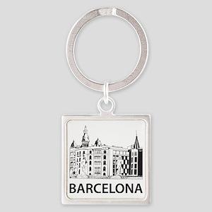 2-Barcelona1 Square Keychain