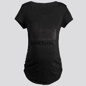 2-Barcelona1 Maternity Dark T-Shirt