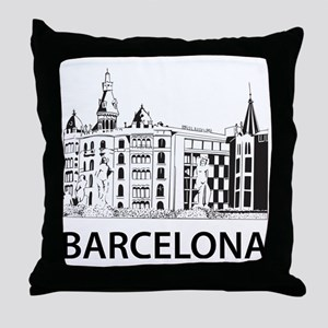 2-Barcelona1 Throw Pillow