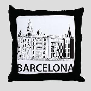 2-Barcelona1 Throw Pillow