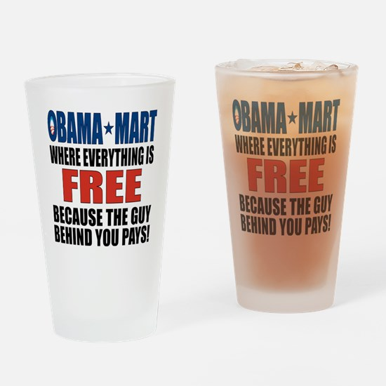 o_mart_button Drinking Glass