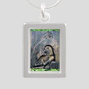 TempleCropSQforTiles Silver Portrait Necklace