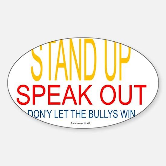 2-dont bully Sticker (Oval)