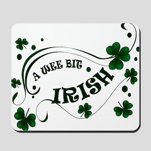 A Wee Bit  Irish Shamrocks Mousepad