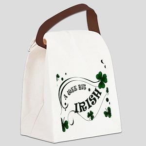 A Wee Bit  Irish Shamrocks Canvas Lunch Bag