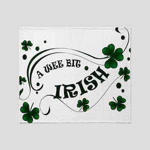 A Wee Bit  Irish Shamrocks Throw Blanket