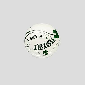A Wee Bit  Irish Shamrocks Mini Button