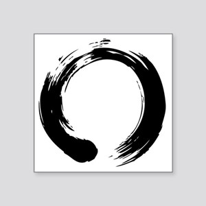 "enso_blk Square Sticker 3"" x 3"""