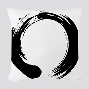 enso_blk Woven Throw Pillow