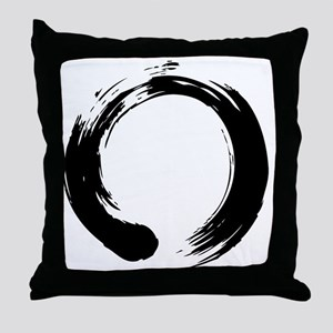 enso_blk Throw Pillow