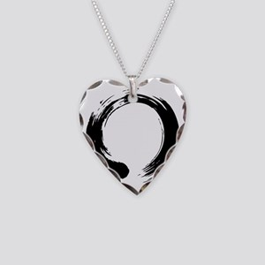 enso_blk Necklace Heart Charm