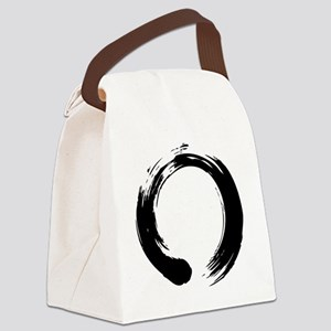 enso_blk Canvas Lunch Bag