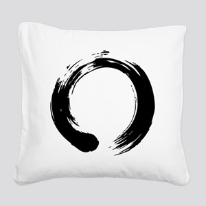 enso_blk Square Canvas Pillow